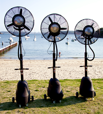commercial misting fan australia