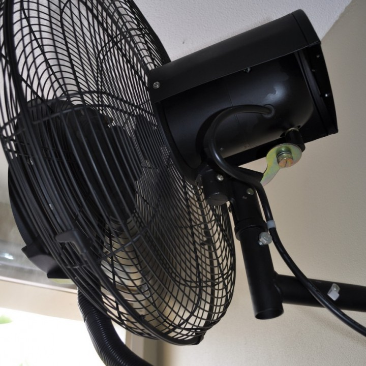 misting fan wall mount